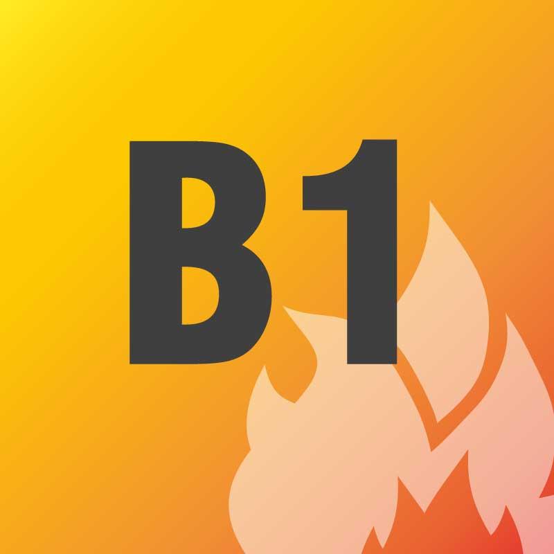 B1 - schwer entflammbar