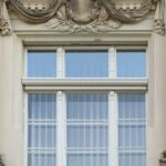 Senkrechtmarkise historisches Fenster