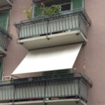 Sichtschutzmarkise für Balkone